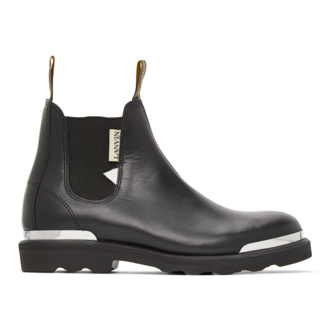 Photo: Lanvin Black Calfskin Chelsea Boots