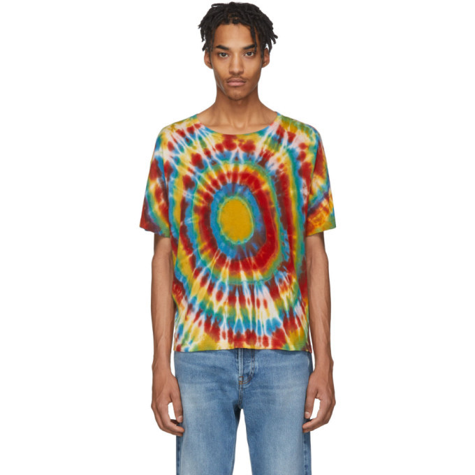 Photo: The Elder Statesman Multicolor Cashmere Tie-Dye T-Shirt