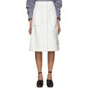 3.1 Phillip Lim Off-White High-Waisted Twill Skirt