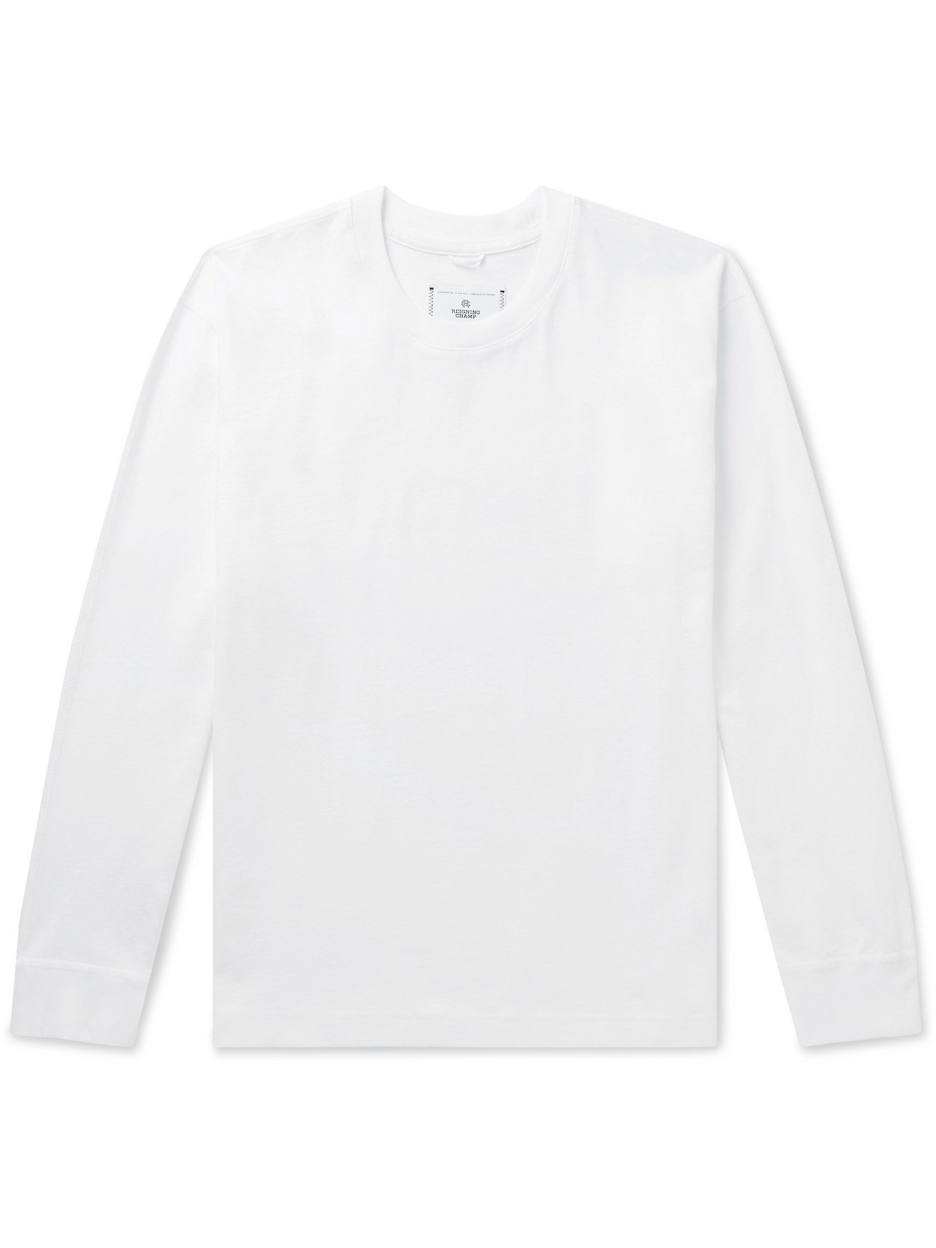 Photo: REIGNING CHAMP - Cotton-Jersey T-Shirt - White - M