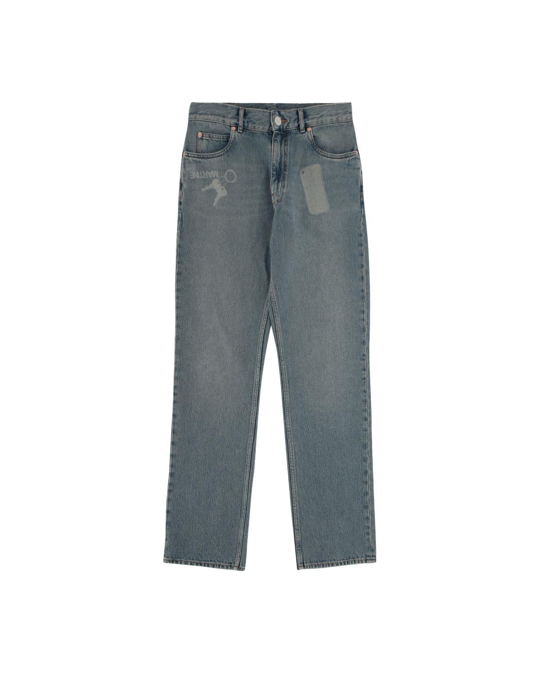 Photo: Martine Rose Straight Leg Denim Pants Dirty Blue