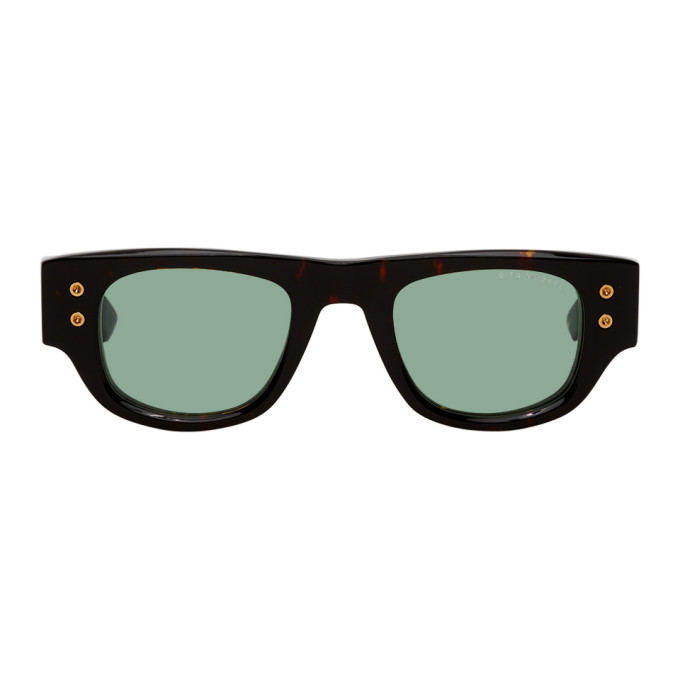 Photo: Dita Tortoiseshell and Green Muskel Sunglasses