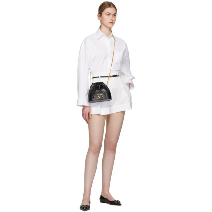 Valentino White High-Waisted Shorts
