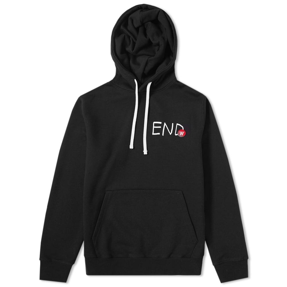 END. x Wood Wood Ian Logo Hoody Black