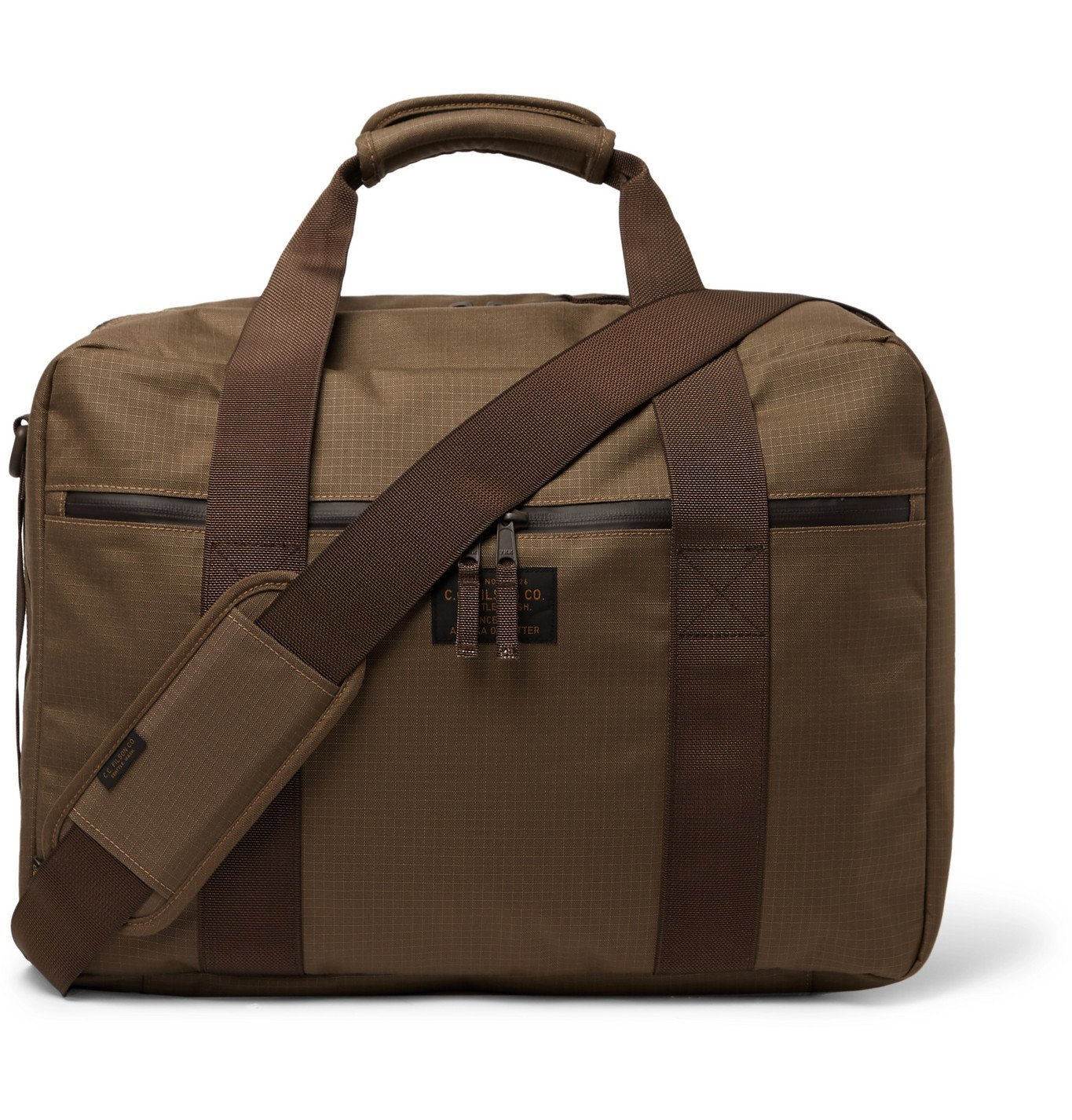 Photo: Filson - Pullman Webbing-Trimmed CORDURA Ripstop Briefcase - Brown