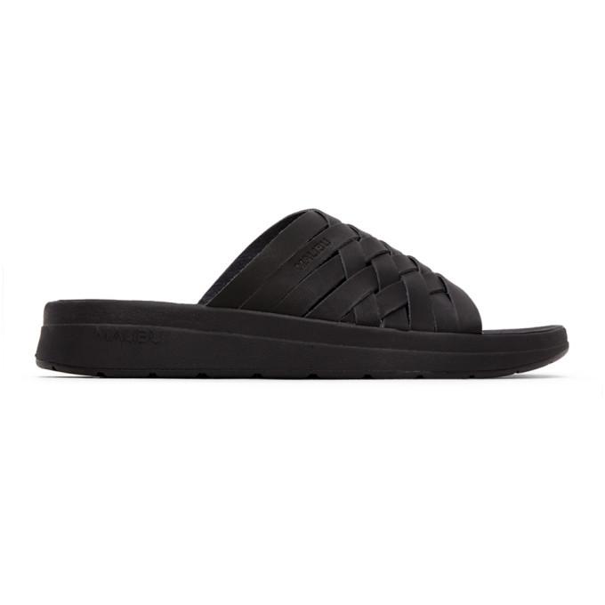 Photo: Malibu Sandals Black Vegan Leather Zuma Sandals