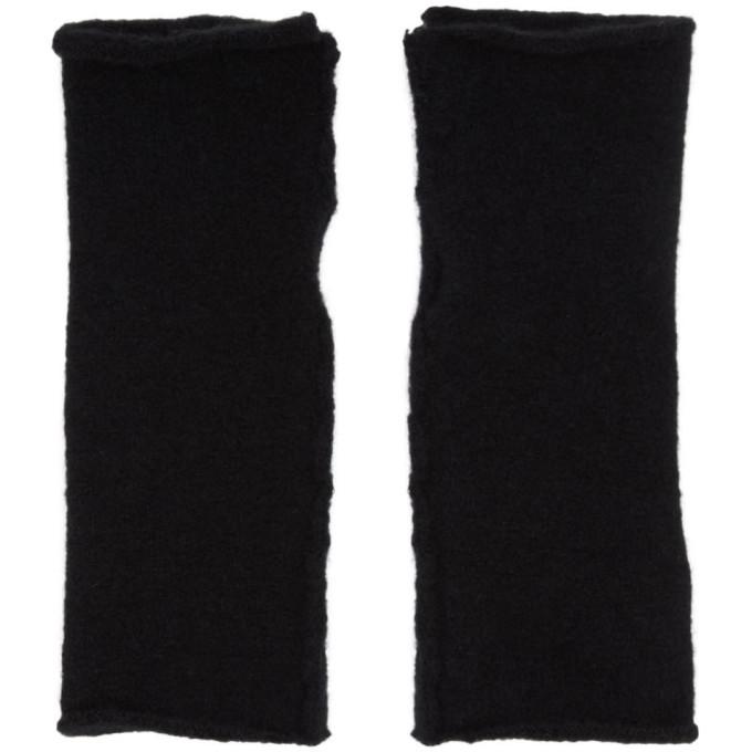 Photo: Isabel Benenato Black Wool and Yak Fingerless Gloves