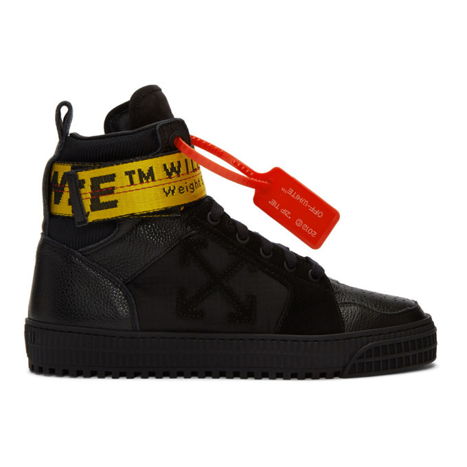 Photo: Off-White Black Industrial High-Top Sneakers
