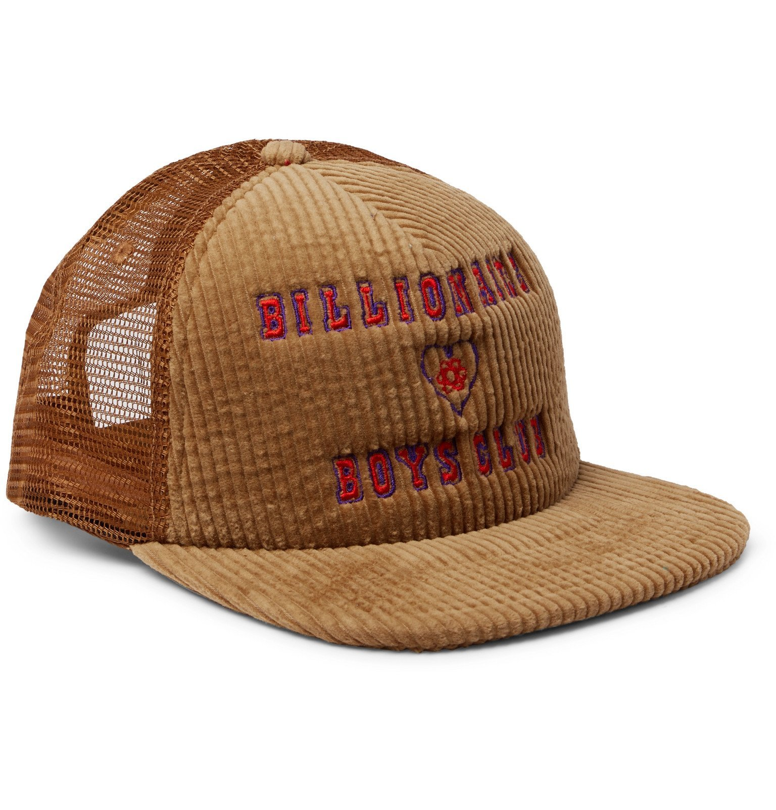 Photo: Billionaire Boys Club - Logo-Embroidered Cotton-Blend Corduroy and Mesh Baseball Cap - Brown