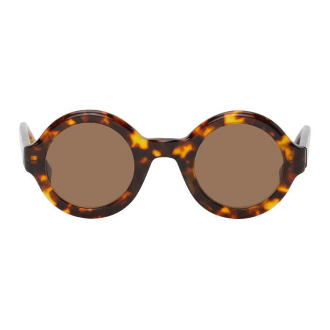 Photo: AMI Alexandre Mattiussi Tortoiseshell Round Sunglasses