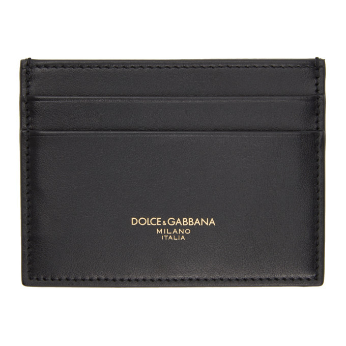 Photo: Dolce and Gabbana Black Leather Logo Card Holder