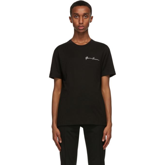 Photo: Versace Black Embroidered GV Signature T-Shirt