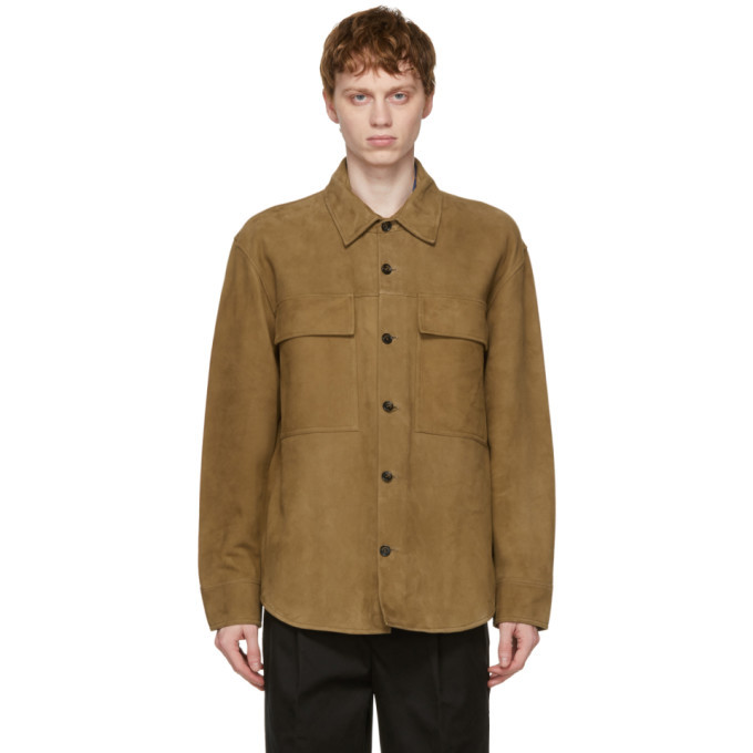 Photo: PRESIDENTs Beige Leather Suede Tack Jacket