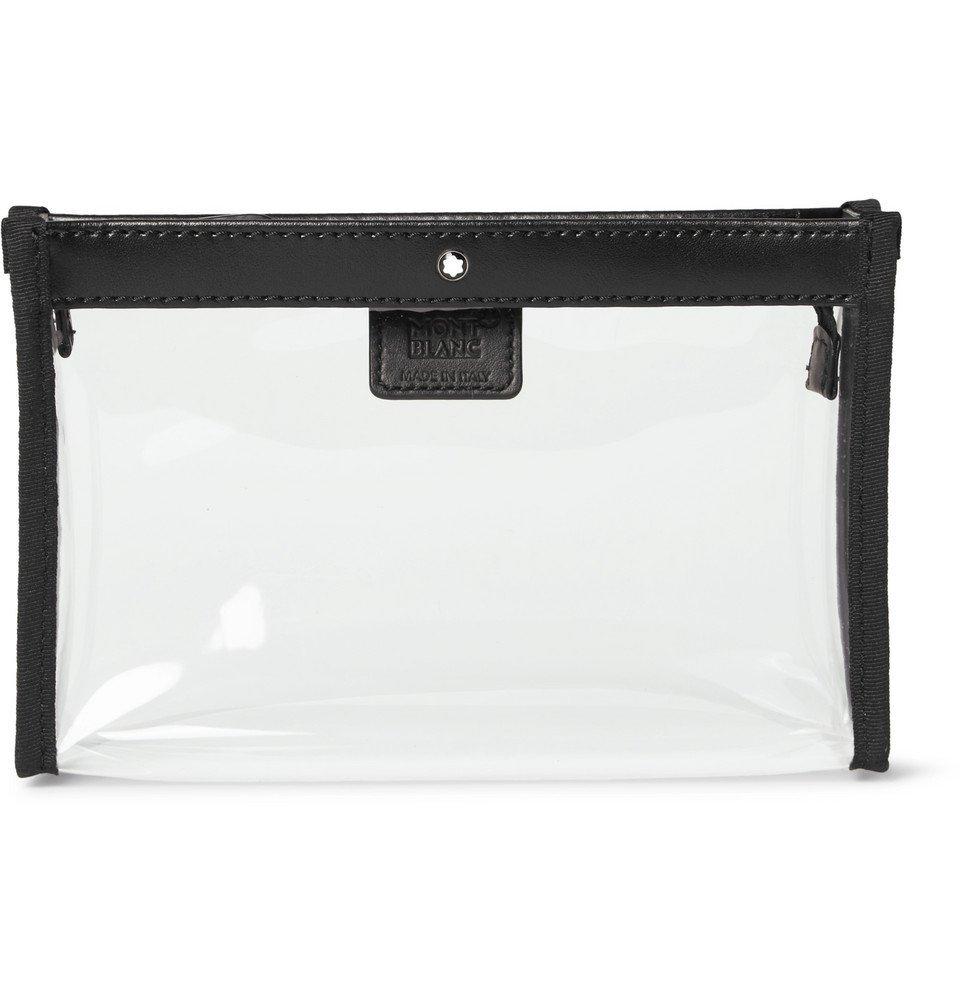 Photo: Montblanc - Leather-Trimmed Transparent Flight Bag - Black