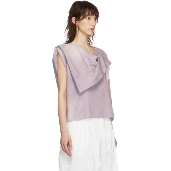 Lemaire Purple Foulard Blouse