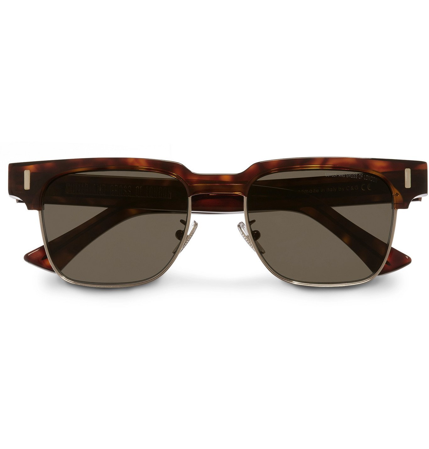Photo: Cutler and Gross - Square-Frame Acetate and Gold-Tone Sunglasses - Tortoiseshell