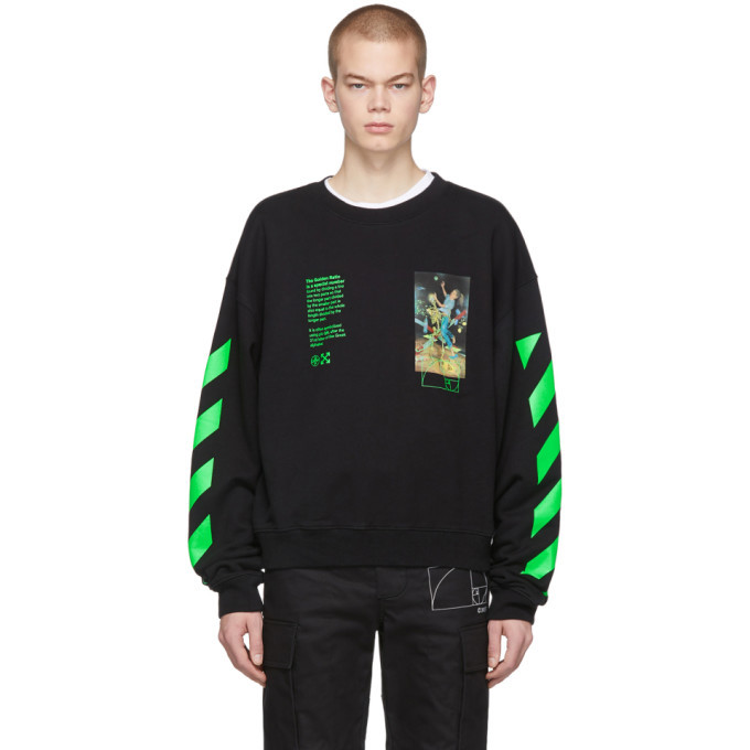 Photo: Off-White Black Pascal Painting Sweatshirt