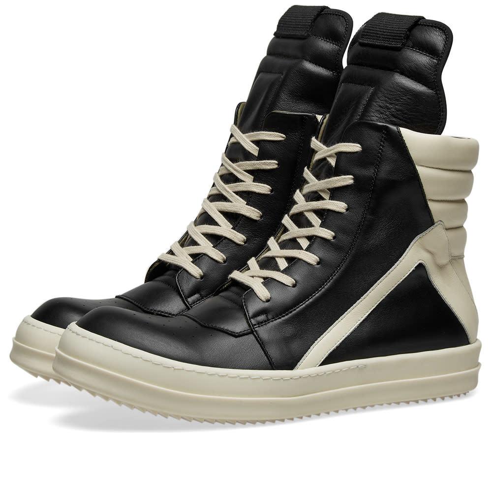 Rick Owens Geobasket Sneaker Black Milk