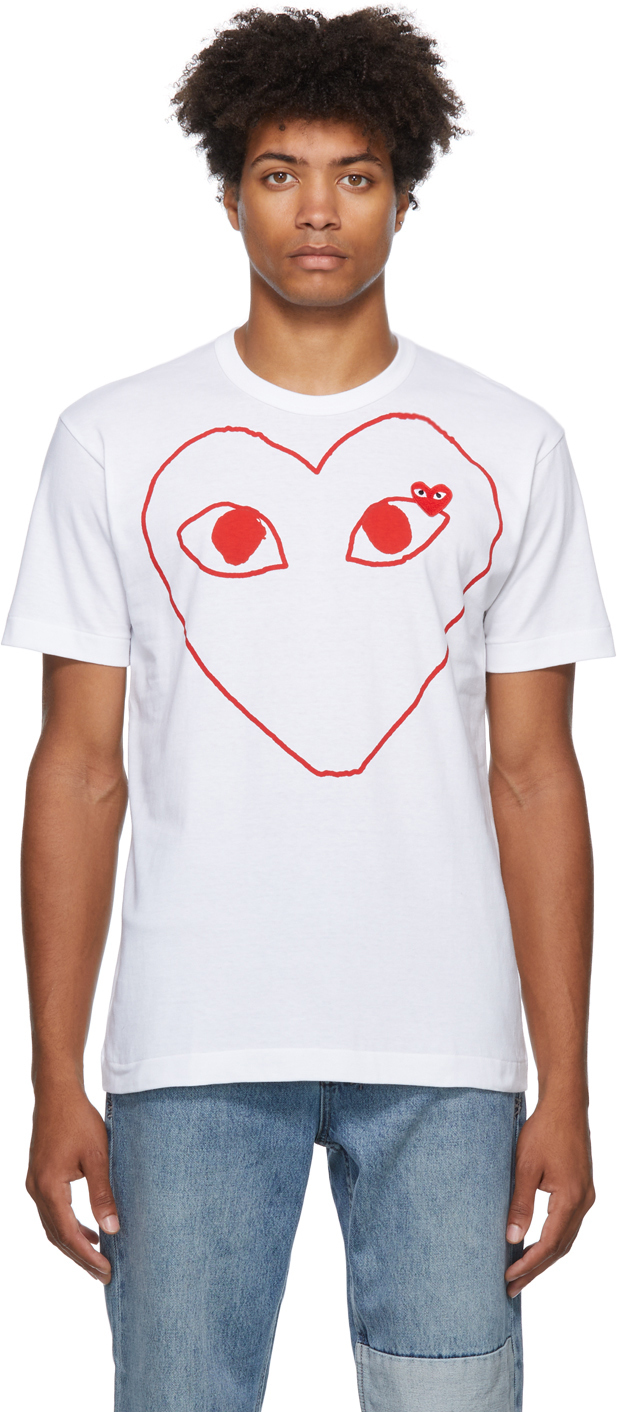 Photo: Comme des Garçons Play Double Heart T-Shirt