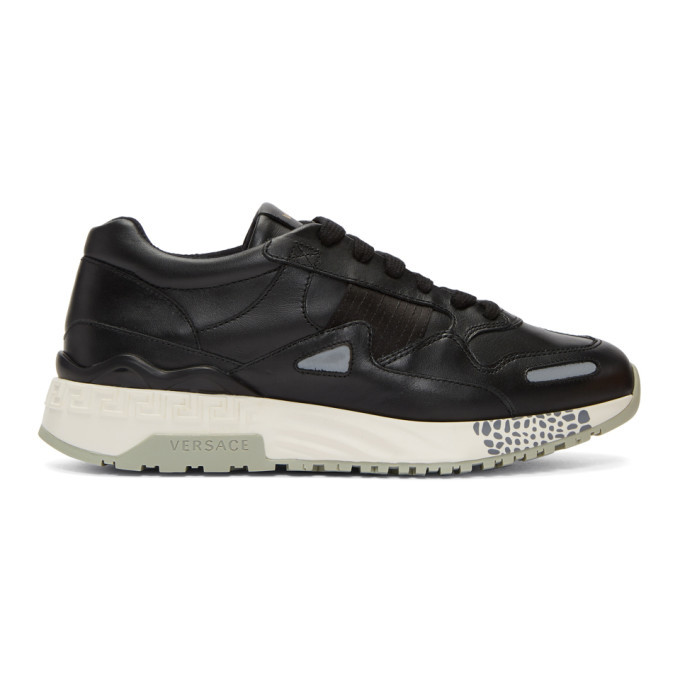 Photo: Versace Black Runner Sneakers
