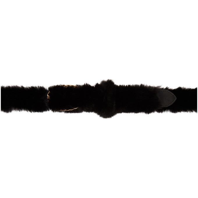Photo: Martine Rose Black Furry Belt