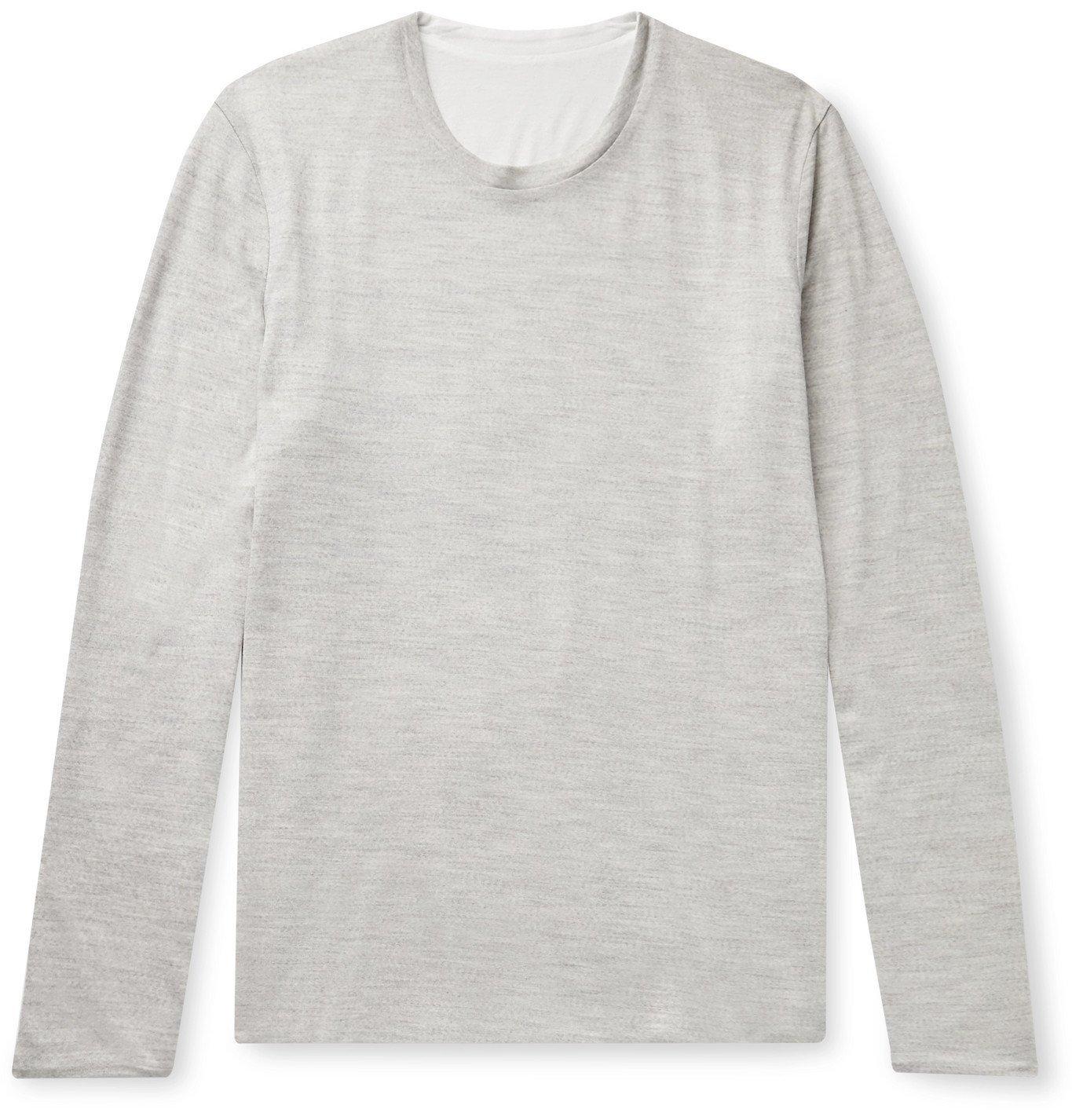 Photo: Sease - Reversible Cotton-Jersey Sweater - Gray