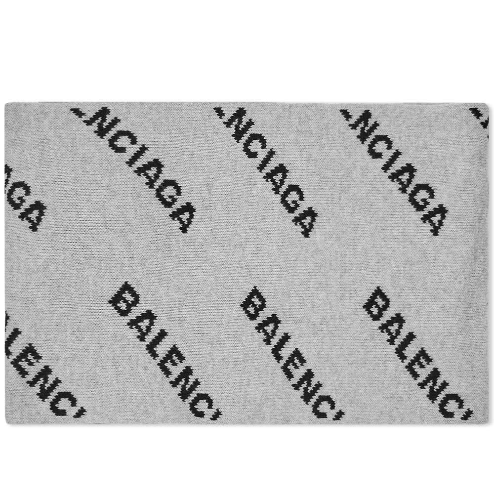 Photo: Balenciaga All Over Logo Scarf