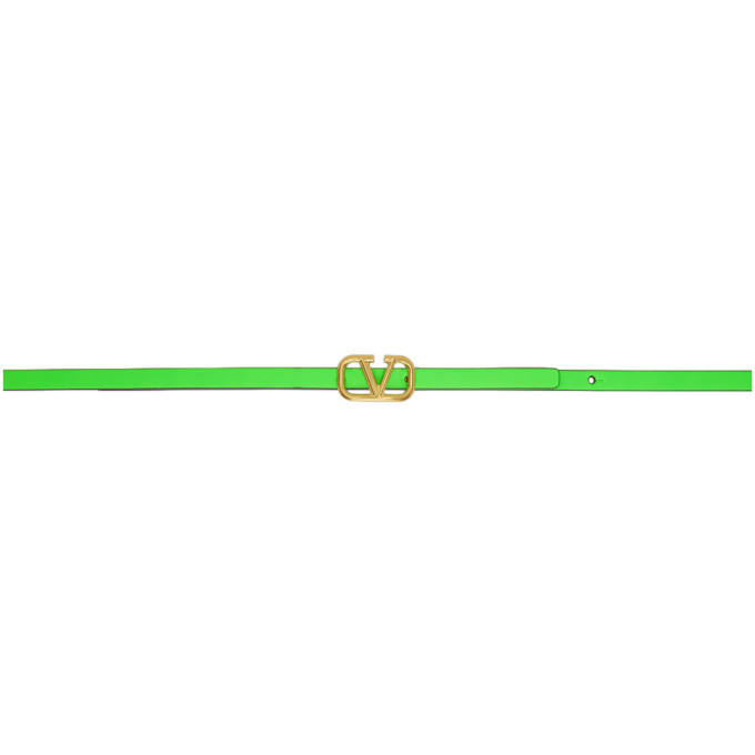 Photo: Valentino Green Valentino Garavani VLogo Belt