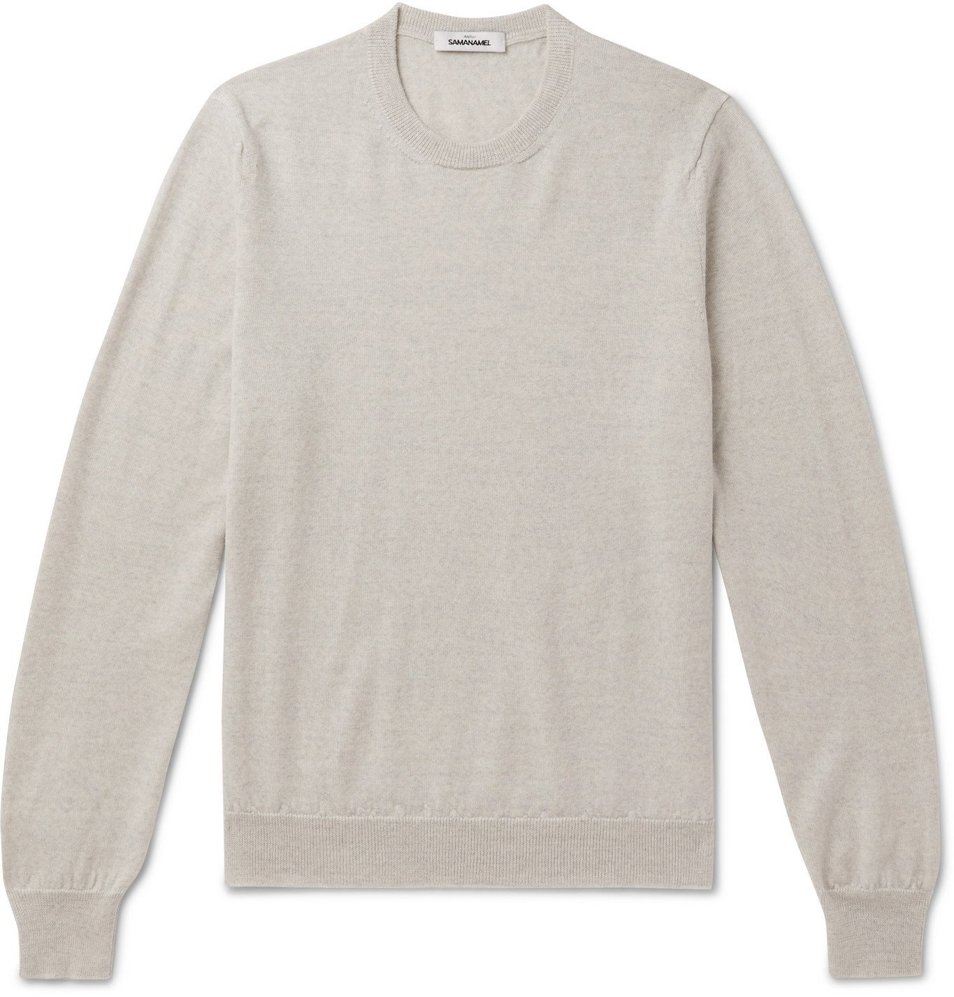 Saman Amel - Merino Wool Sweater - Gray