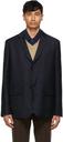 Margaret Howell Navy Wool Dense Twill Blazer