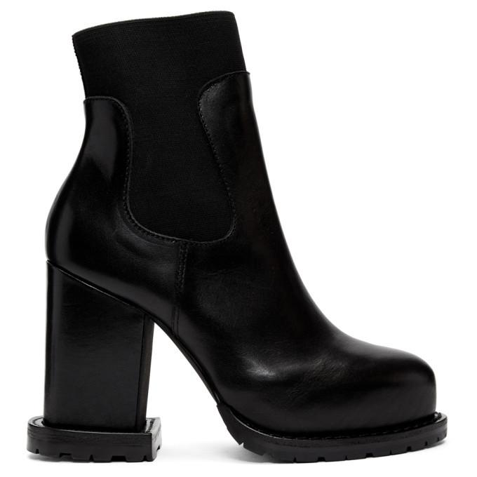 Photo: Sacai Black Leather Ankle Boots