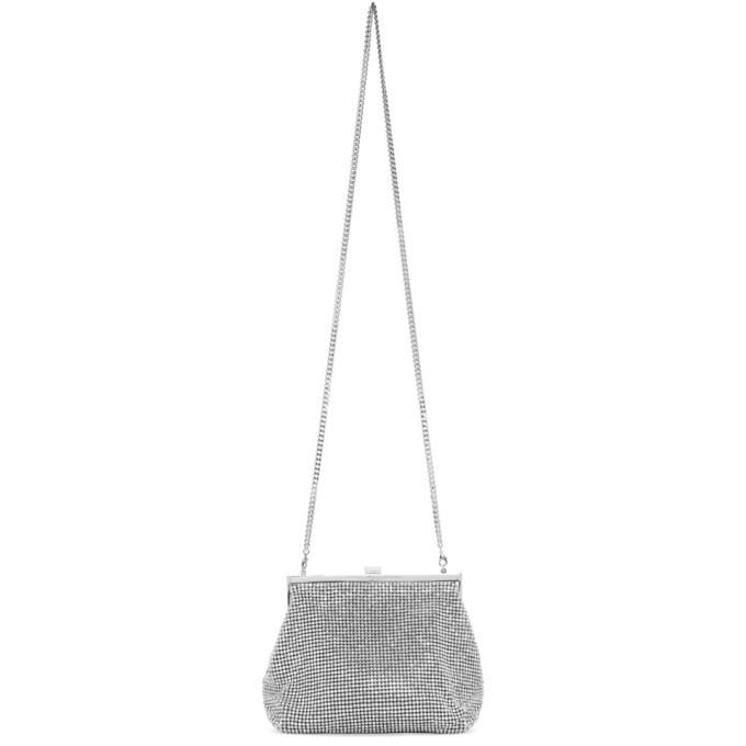 Photo: Stella McCartney Silver Mini Frame Crystal Chain Mail Bag