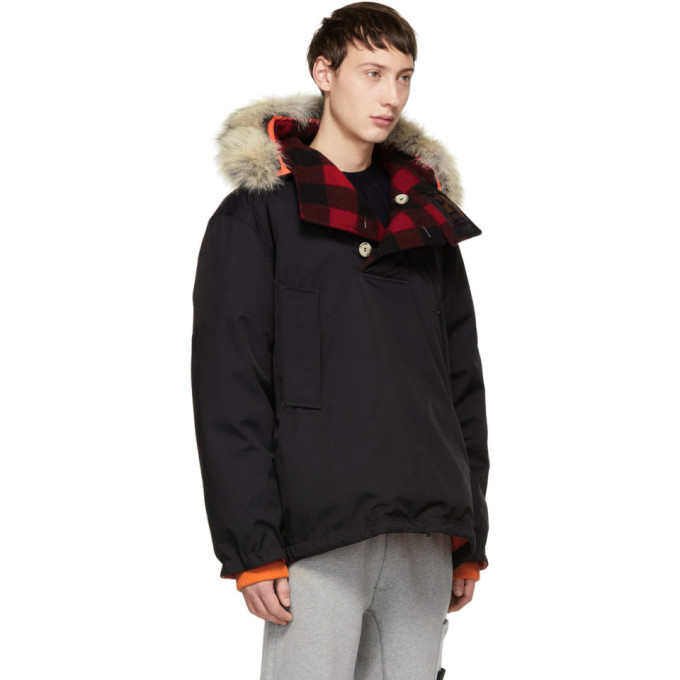 Woolrich John Rich and Bros Reversible Black Griffin Edition Down Atlantic Smock Jacket