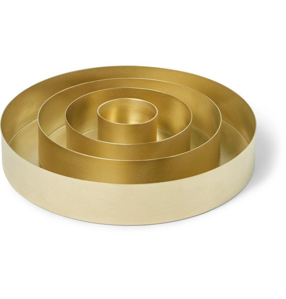 Photo: Tom Dixon - Orbit Set of Four Brass Trays - Men - Gold