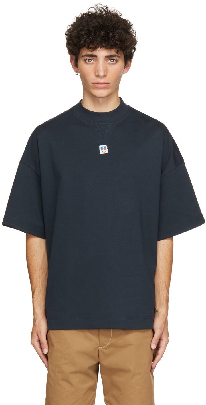 Photo: Boss Navy Russell Athletic Edition Box T-Shirt