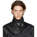 1017 ALYX 9SM Black Leather Logo Bandana
