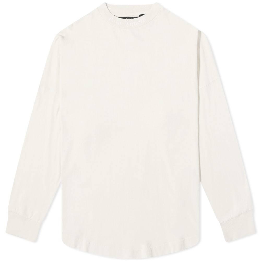 Photo: Palm Angels Long Sleeve Garment Dyed Logo Tee