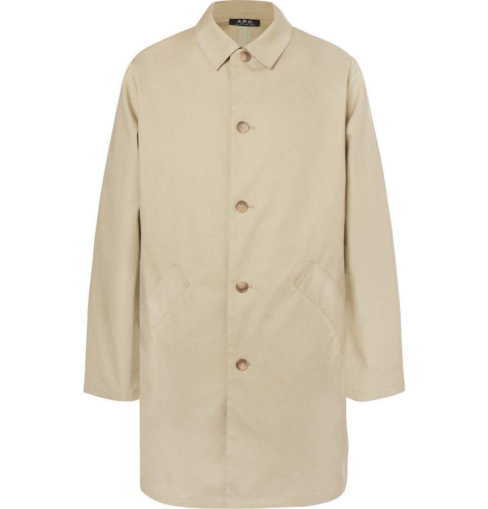 Photo: A.P.C. - Cotton Raincoat - Men - Cream