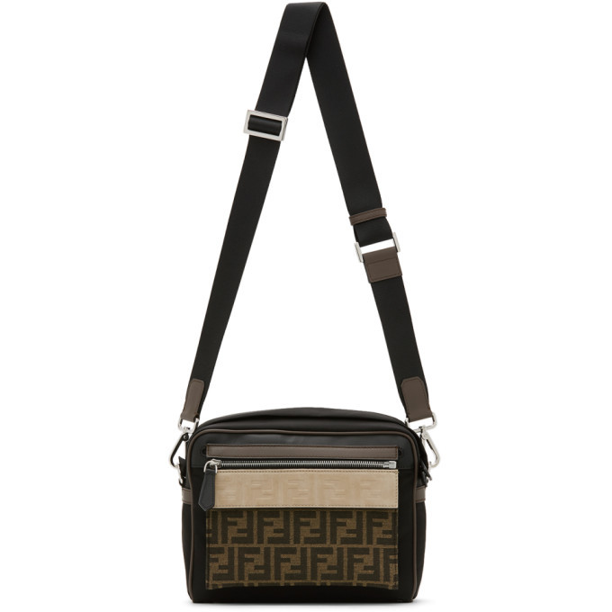 Photo: Fendi Black Medium Forever Fendi East/West Messenger Bag