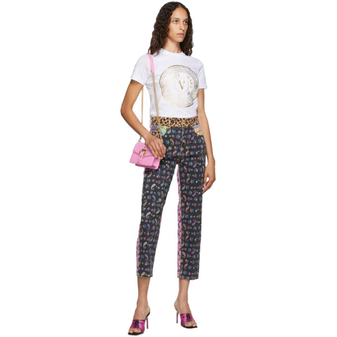 Versace Jeans Couture Multicolor Mixed Print Jeans