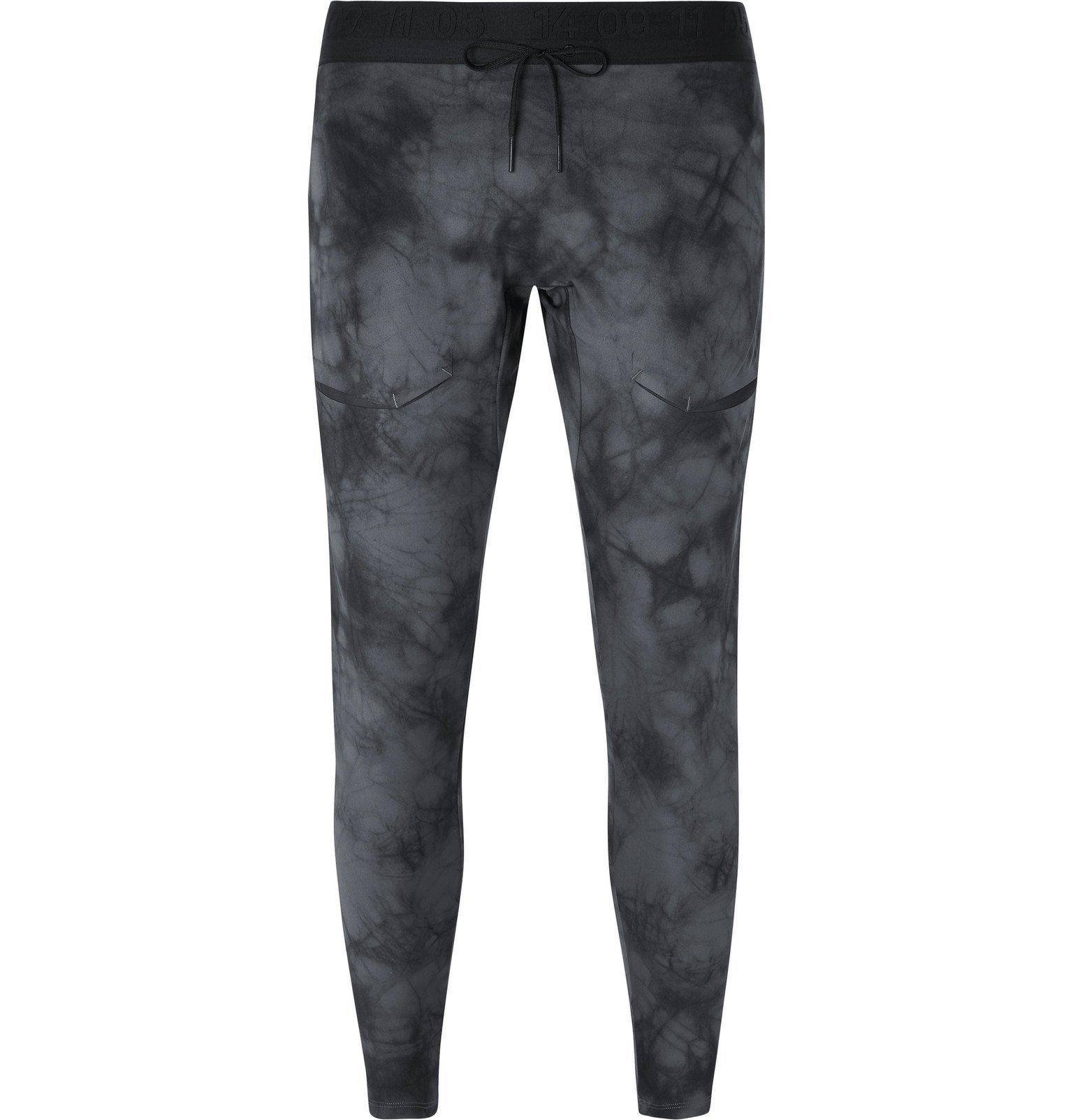 Nike Running - Power Printed Stretch-Jersey Running Tights - Gray