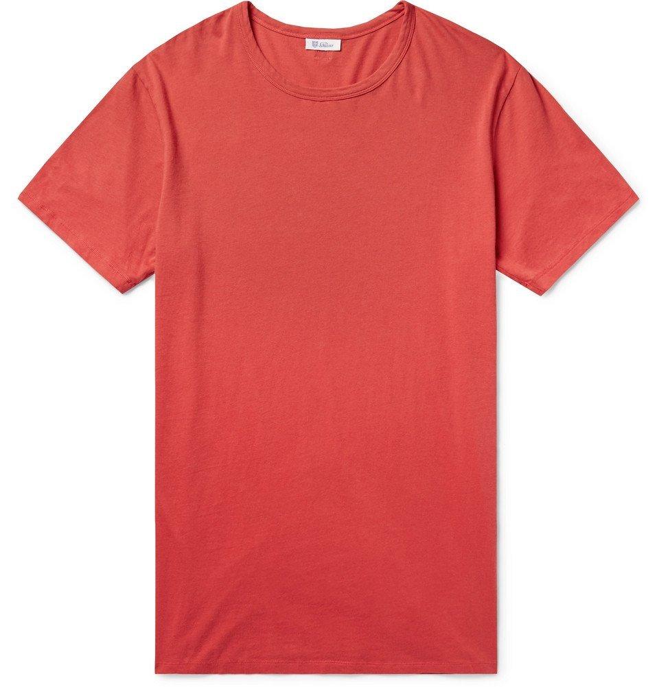 Schiesser - Johann Cotton-Jersey T-Shirt - Men - Red