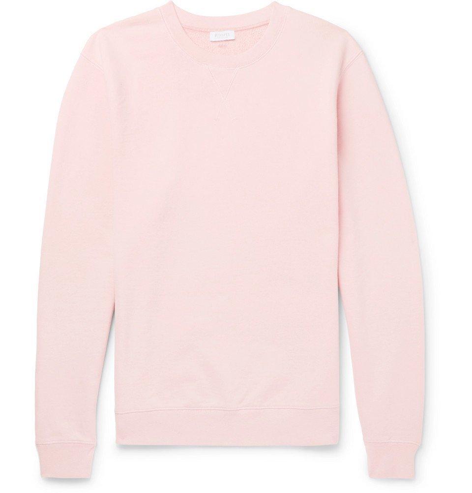 Sunspel - Brushed Loopback Cotton-Jersey Sweatshirt - Men - Pink