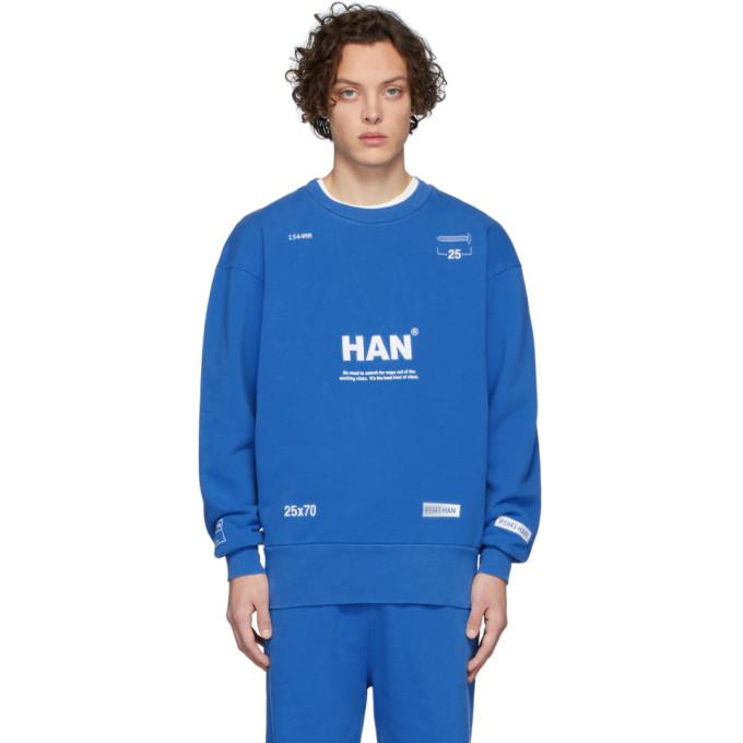 Photo: Han Kjobenhavn Blue Bulky Crew Sweatshirt