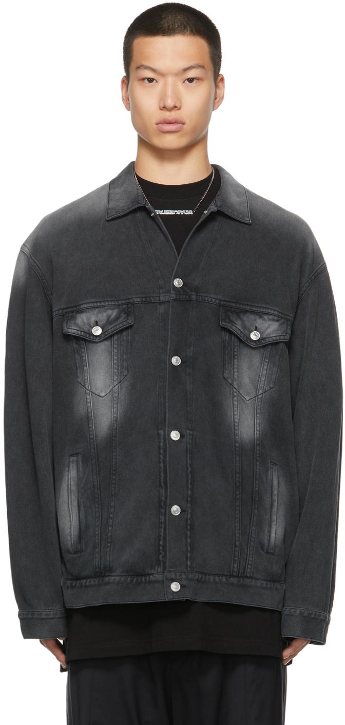 Photo: Balenciaga Denim Trompe L'oeil Jacket