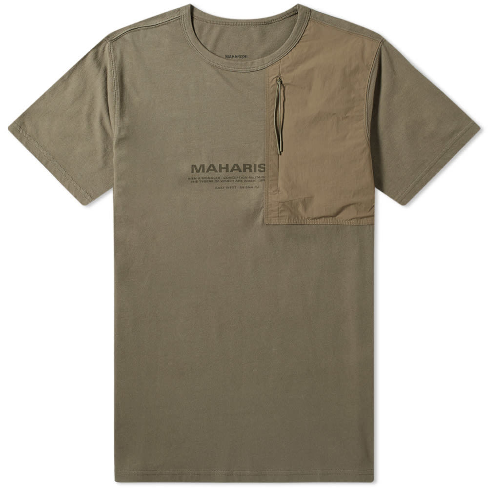 Photo: Maharishi Tech Travel Tee Maha Olive