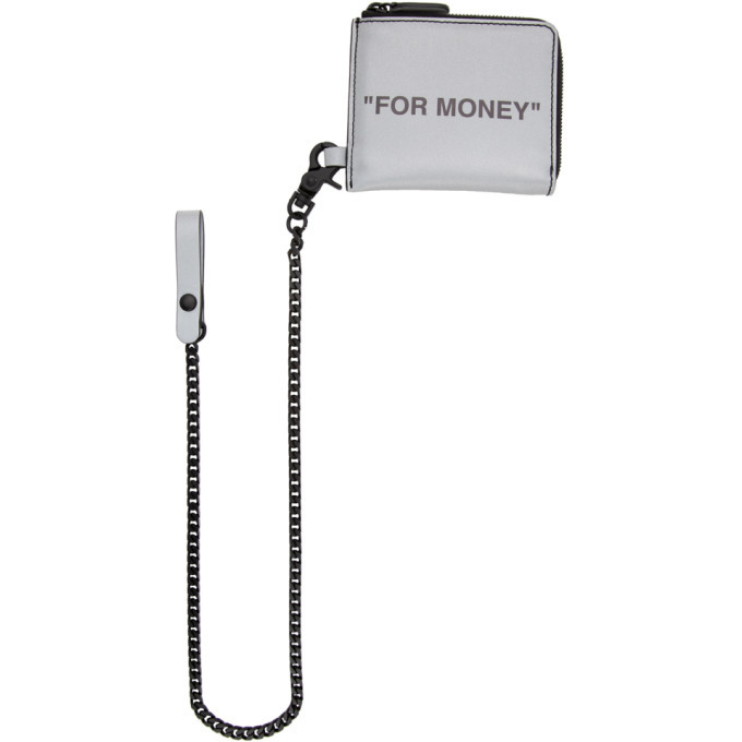 Photo: Off-White Silver Quote Chain Wallet