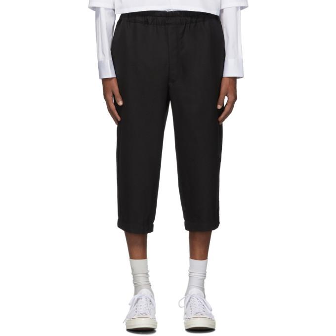 Photo: Comme des Garcons Shirt Black Cropped Drawstring Trousers