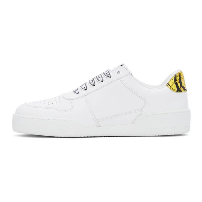 Versace White Ilus Low Sneakers