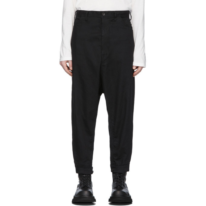 Photo: Julius Black Cropped Low Crotch Trousers
